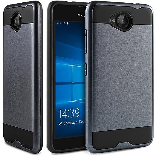 21 opinioni per Cover Microsoft Lumia 650, BEZ® 2 in 1 Custodia Hybrid in Gomma Antiurto