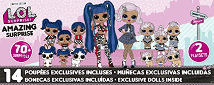 Amazon Com L O L Surprise Amazing Surprise With 14 Dolls 70
