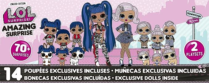 Amazon.com: L.O.L. Surprise Amazing Surprise with 14 Dolls, 70+ Surprises & 2 Playset: Toys & Games