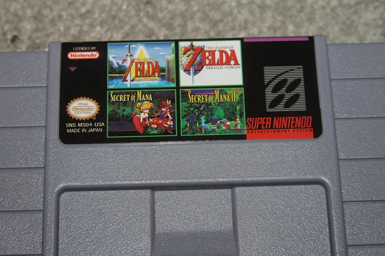 SNES SUPER NINTENDO 4 in 1 - Zelda A Link To The Past, Zelda The