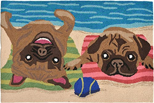 Liora Manne Whimsy Beach Bums Rug, Indoor Outdoor, Scatter Size, Multicolored