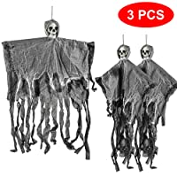 THE TWIDDLERS 3 scheletri da 70 cm da appendere al soffitto. - Reaper, Ghost Prop - Perfette come decorazioni per feste di Halloween