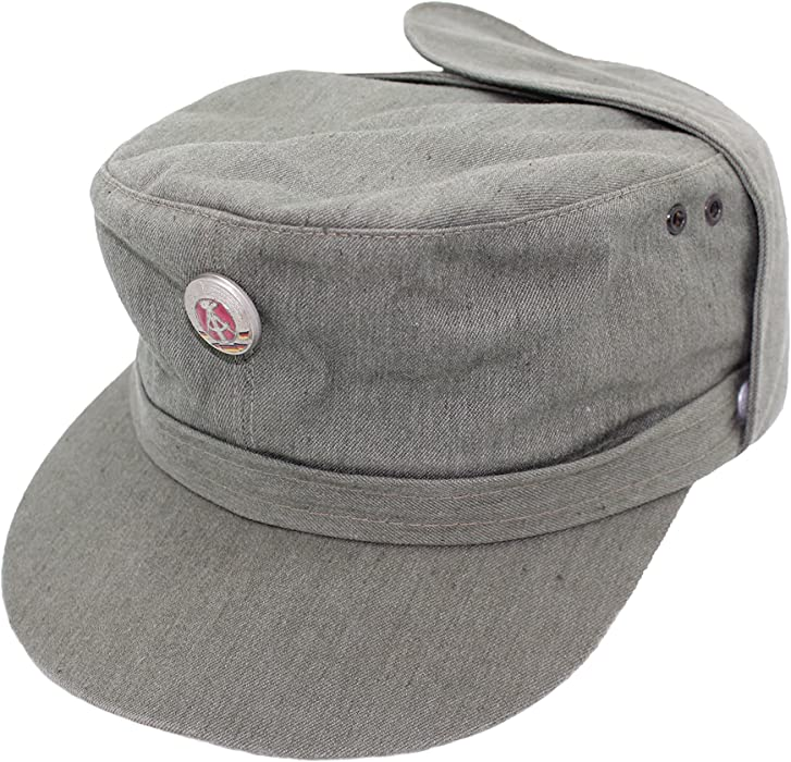 32e36ca2819 Genuine East German Army NVA Grey Field Cap (53)  Amazon.co.uk  Clothing