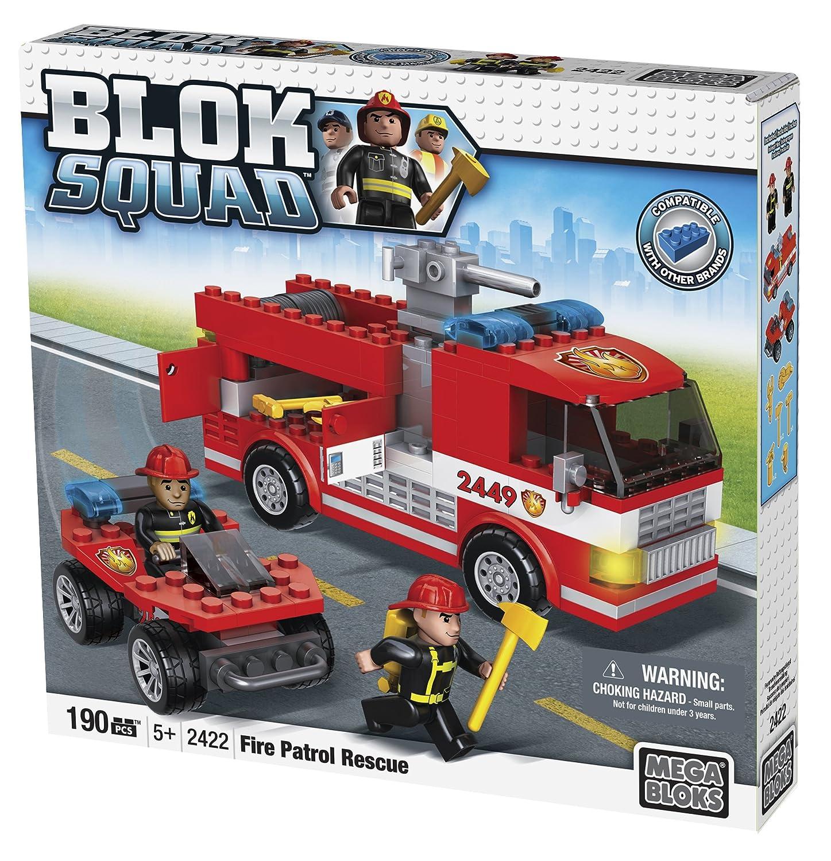 com mega bloks blok squad fire patrol rescue piece com mega bloks blok squad fire patrol rescue 190 piece toys games