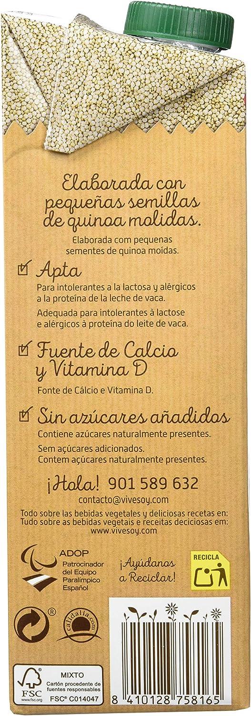 Vivesoy Bebida de Quínoa - 6 Recipientes de 1 l - Total: 6 l