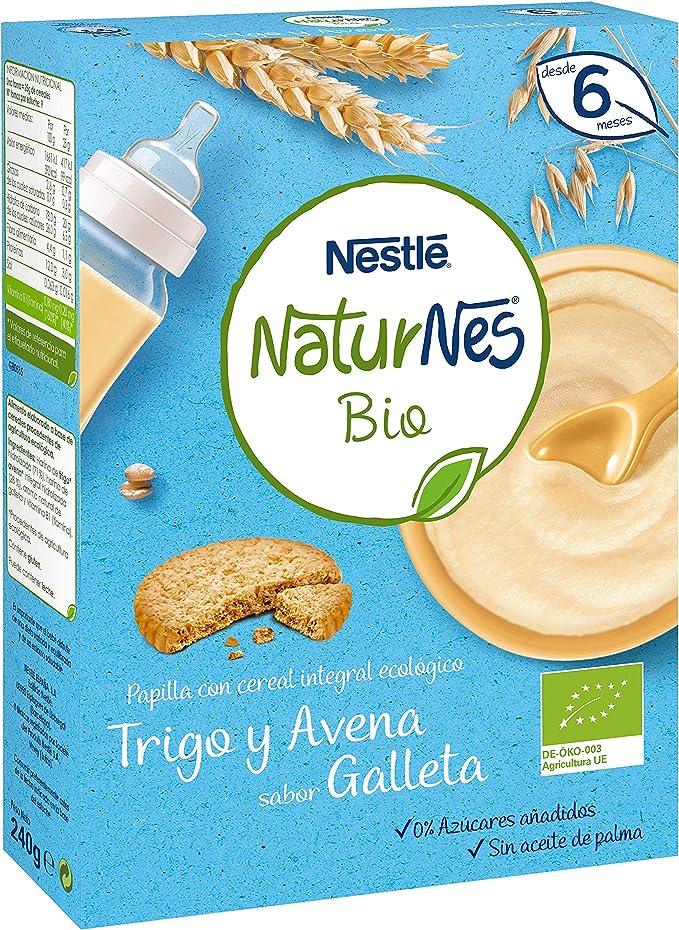 Nestlé Naturnes Bio - Papilla de cereales Trigo y Avena sabor Galleta - Alimento Para bebés - 6x240g: Amazon.es: Alimentación y bebidas