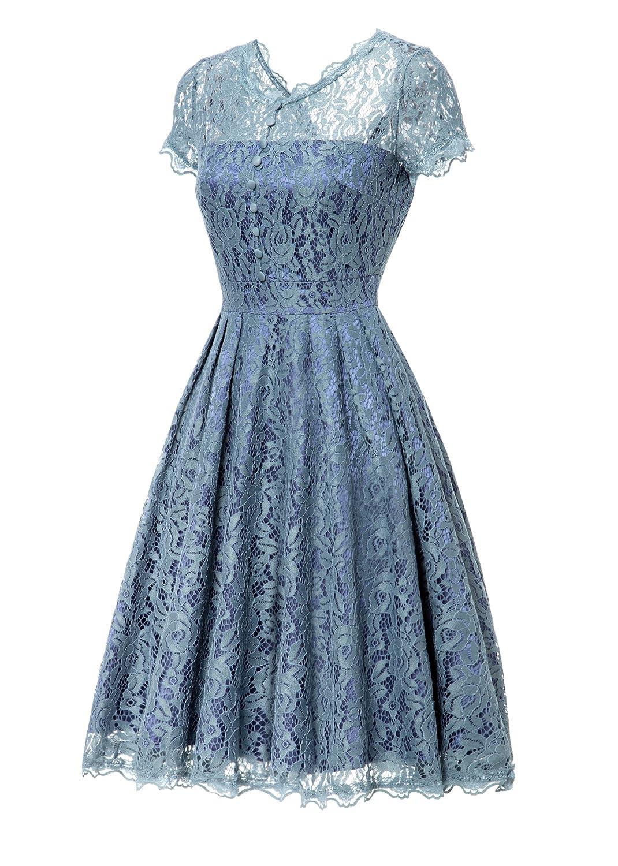 Gigileer Women\'s Dress A-Line Dresses Scroop Neck Lace Shirt Casual ...