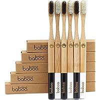 Baboo Natural Organic Bamboo Wooden Toothbrush - Eco-Friendly - Extra Soft & Medium BPA Free Activated Charcoal Bristles…