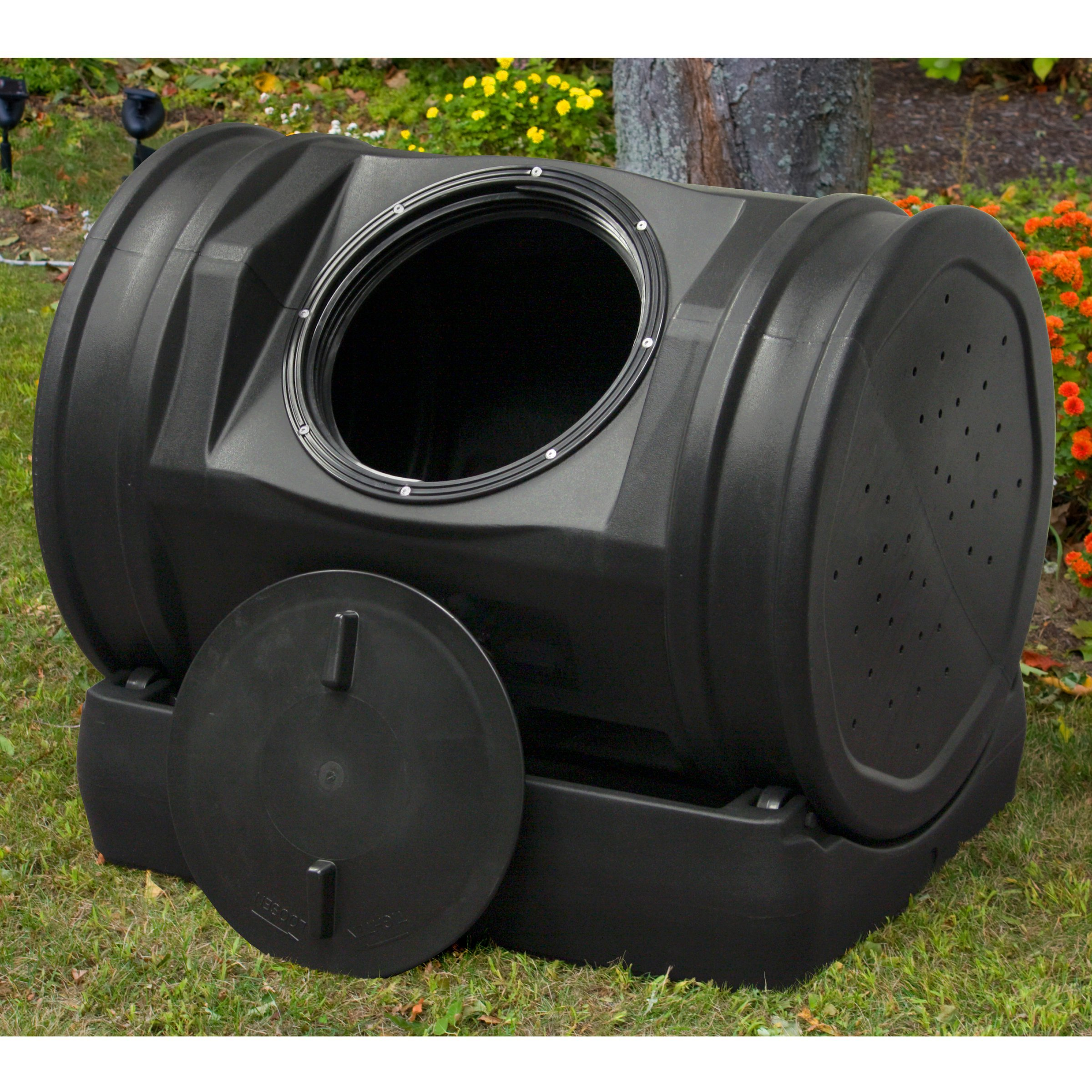 Compost Tea Tumbler Bin Backyard Garden- 52 Gallon 7 Cubic Feet Made SWith 100% Recycled Plastic For Strength Durability - Adjustable Air Vents- Makes Compost In Just 2 Weeks- Lighweight, Efficient by Good Idea