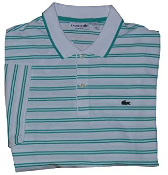 f5adb9aec Lacoste Men s Regular Fit Short Sleeve Mesh Polo Shirt at Amazon Men s  Clothing store