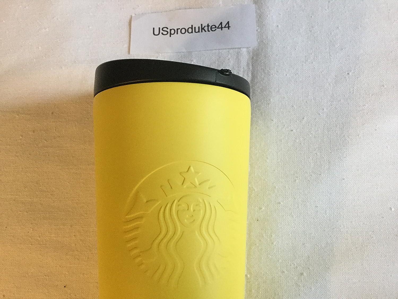 Amazon.com: Starbucks Yellow Matte Stainless Steel Tumbler 16 Oz ...