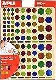 APLI - Gomets Multicolor Metalizados - 6 Hojas Apli