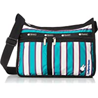 LeSportsac Green Stripe Miffy 65th Anniversary Deluxe Everyday Crossbody Bag + Cosmetic Bag, Style 7507/Color G717…