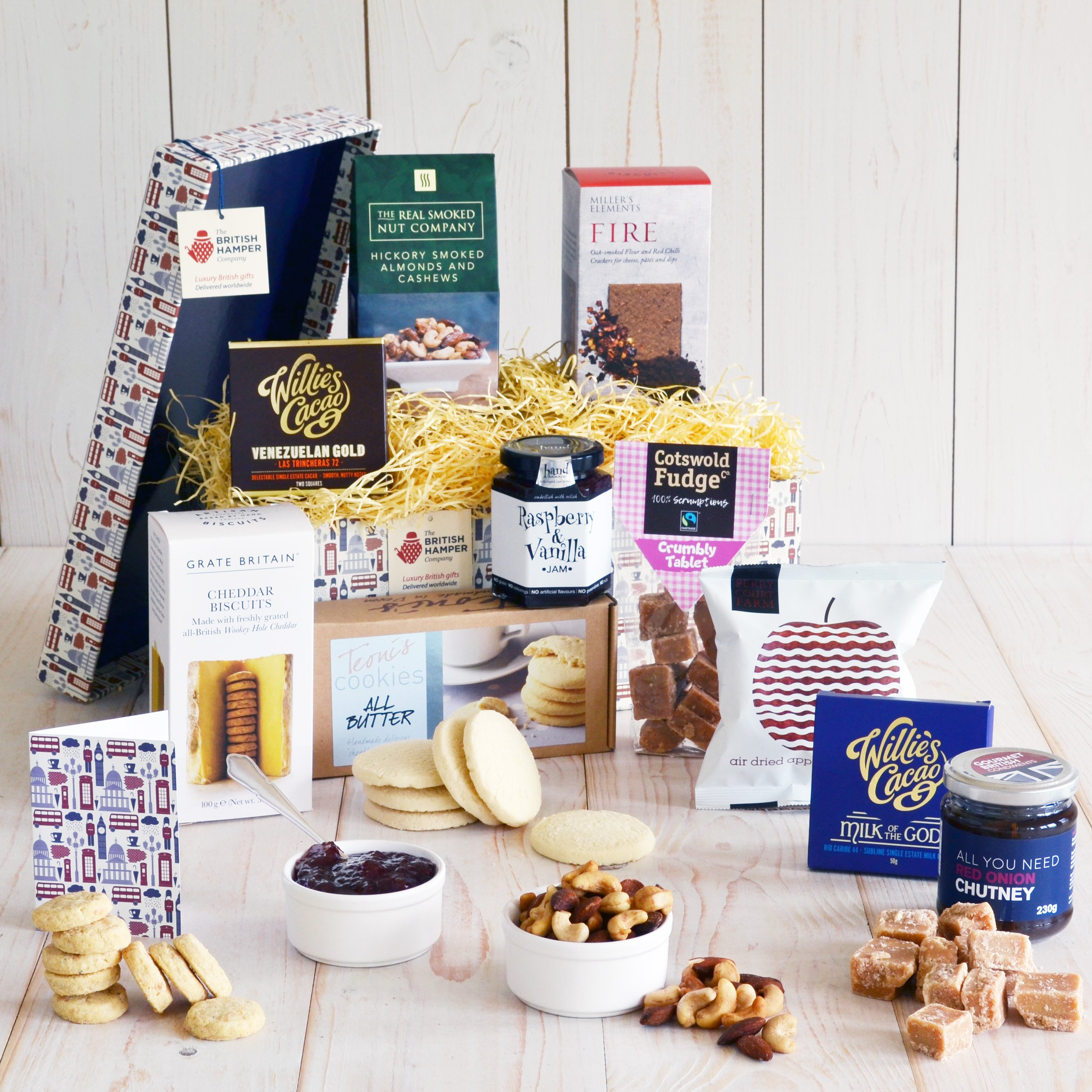 Superior Traditional British Gift Basket - Gift Card Included - British Artisan Food Gift Basket by The British Hamper Company