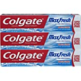 Colgate Max Fresh Toothpaste with Breath Strips- Cool Mint - 7.8 ounce (3 Pack)