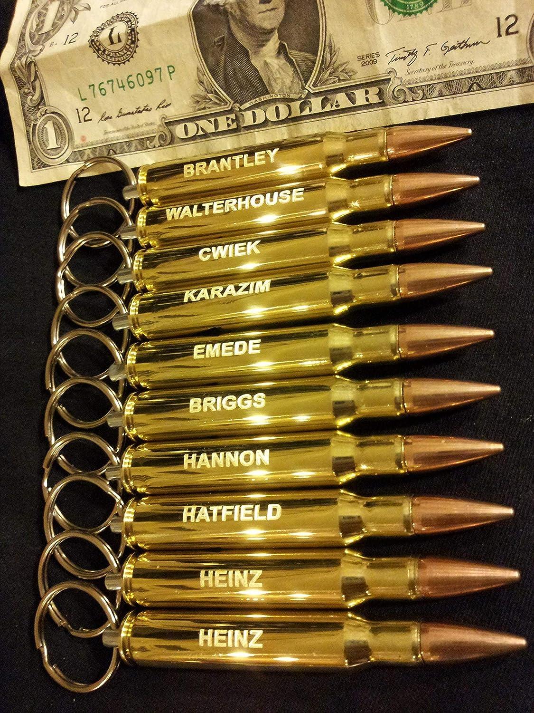 Seven Engraved 3006 bullet bottle opener key chains