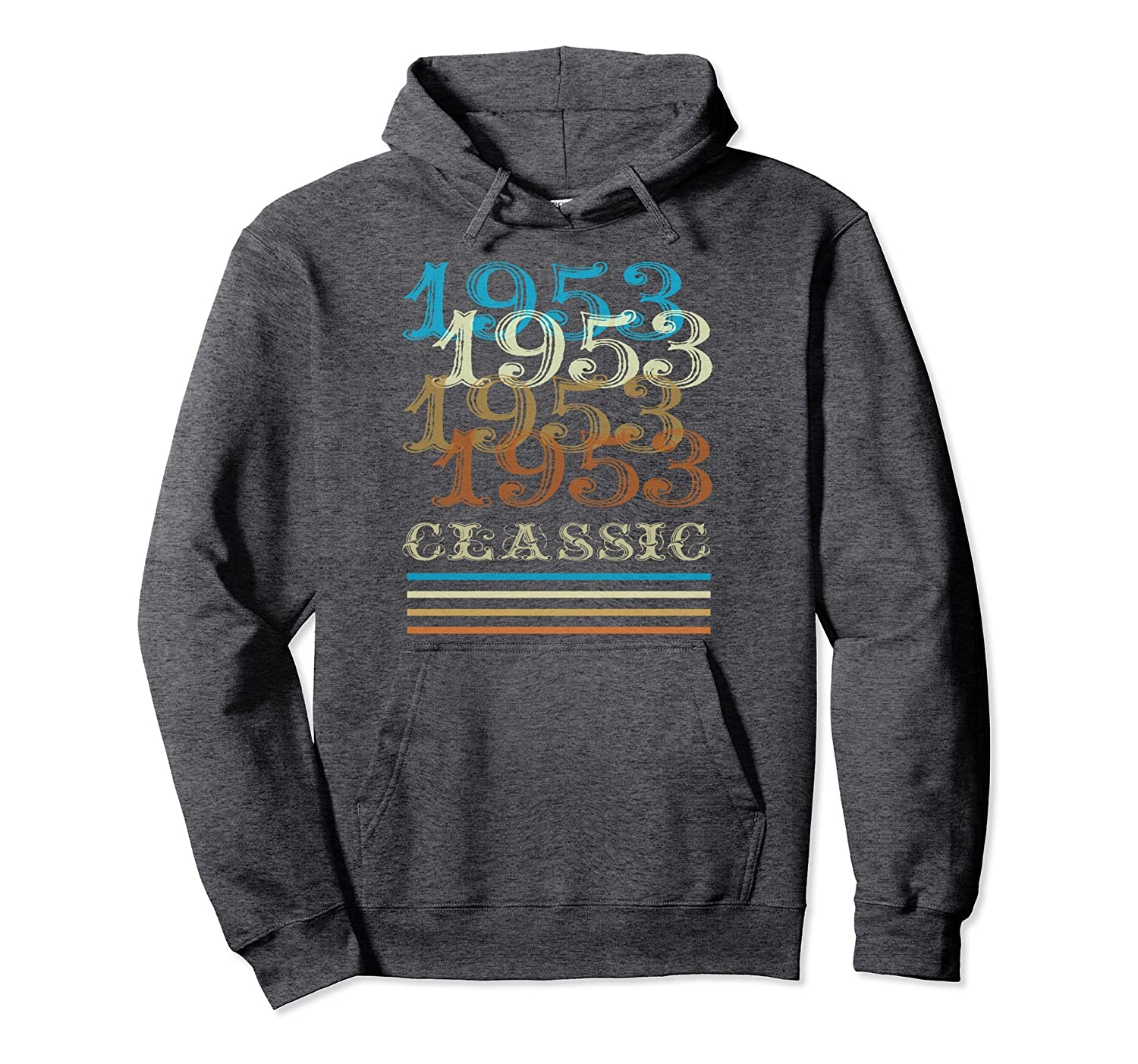 1953 Hoodie Classic Vintage Retro Cool 65th Birthday Gifts-anz