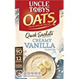 UNCLE TOBYS Oats Quick SACHETS Creamy Vanilla, 12 x 35g
