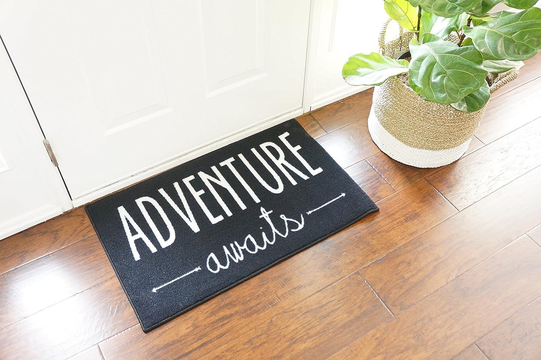 Doormat keep the change you filthy animal doormat photographs : Amazon.com: Adventure Awaits Door Mat 2x3 - Black: Kitchen & Dining