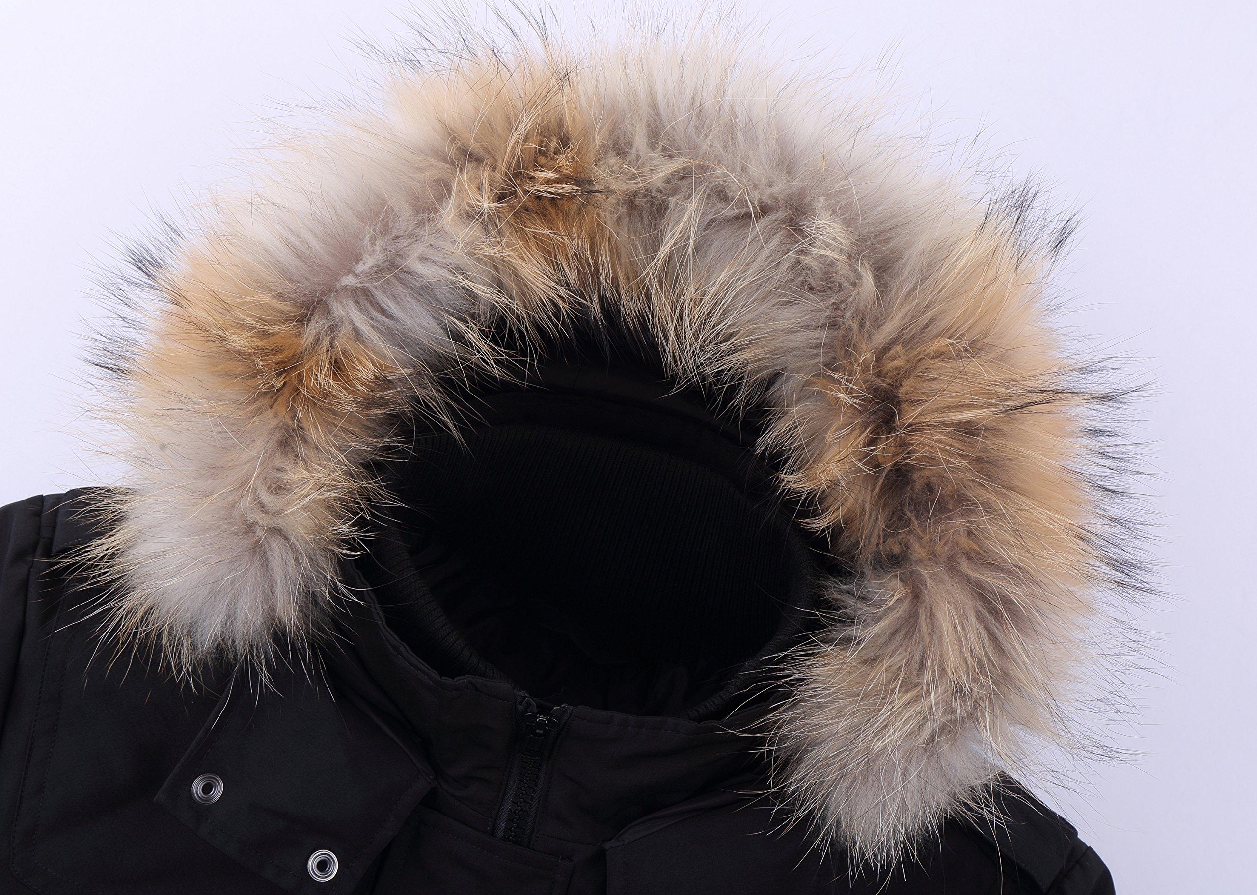 Arctic Residents New York Mens Winter Jacket Down Jacket Men (Small, Black) by Arctic Residents