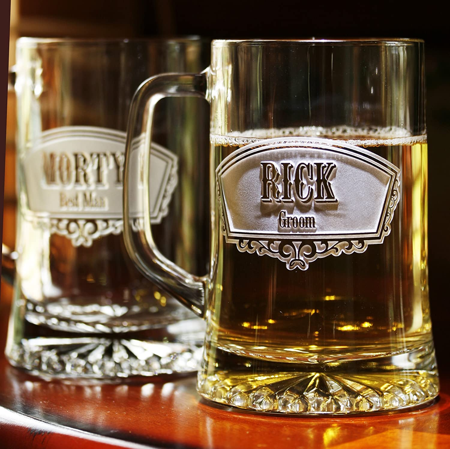 Groomsmen Gift Ideas, Best Man Beer Mugs Set of 9