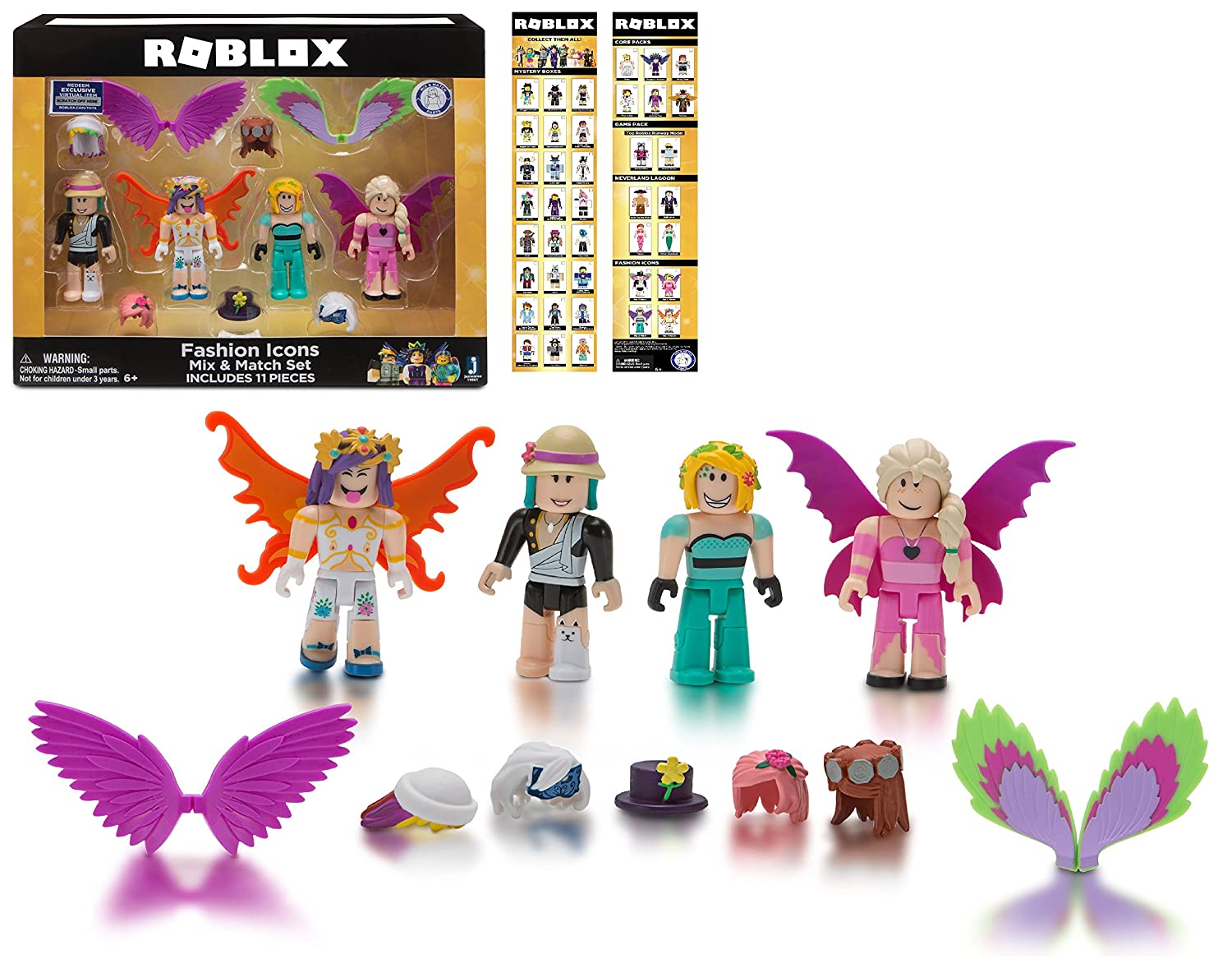 NEW! EXCLUSIVE Roblox - FASHION ICONS MIX & MATCH SET - Celebrity  Collection, Includes 11 Pieces (Walmart Exclusive)