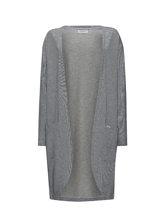 ADPT. Damen Long-Cardigan mit Taschen Tainted | Strick-jacke lang 100% Baumwolle