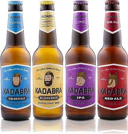 Cerveza KADABRA Pack degustación 12 unidades de 33cl: Amazon.es ...