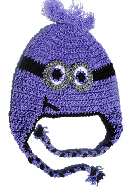 Amazon Toddler 2 Eye Purple Minion Inspired Toboggan Beanie
