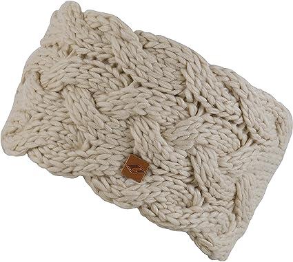 Feinzwirn Strick-Kopfband mit Fleece innen für Damen - warmes ...