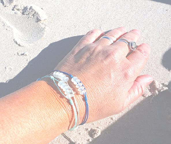 charm bracelet for women Seaglass brass adjustable handmade bracelet artisan recycled hechoenmano