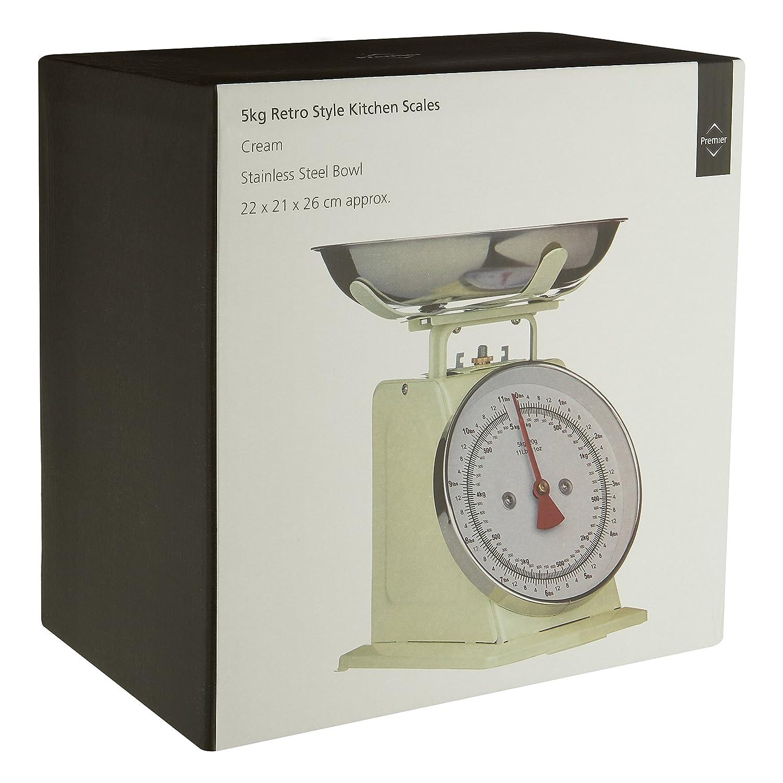 Compra Premier Housewares - Báscula para cocina (5 kg), color crema retro en Amazon.es