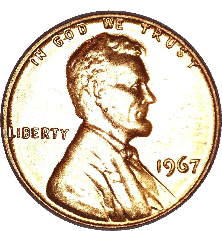 1967 P Lincoln Memorial Cent Gem BU