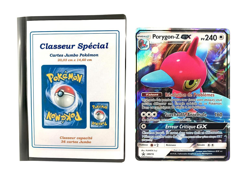 Cadeau Bonus Classeur sp/écial pour Ranger 36 Carte Pokemon Grand Format Jumbo