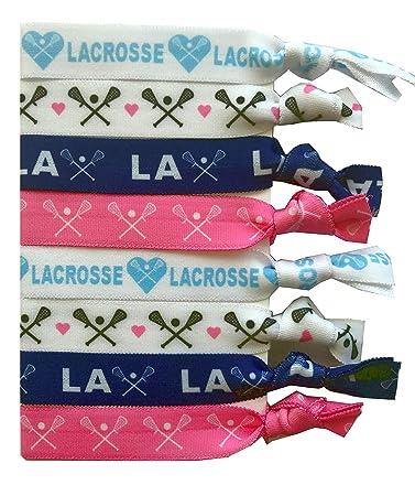 8 Piece Lacrosse Hair Elastic Set