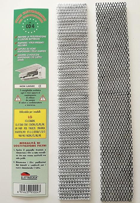 CO4 N 2 Filtro para Aire Acondicionado LG LS L126DHL - J1260 1261 ...