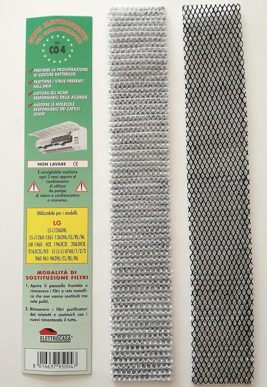 CO4 N 2 Filtre Climatisation Air LG-LS L126DHL J1260 1262HL 1261///RL CL NL H2L LM 1460 1963C2L 2063H3L LS (J-L 0760)/1/2/3-2163C2L/(H3 LG LS J-L 0760)/1/2/3-960-961-962HL/CL/RL/NL Elettrocasa