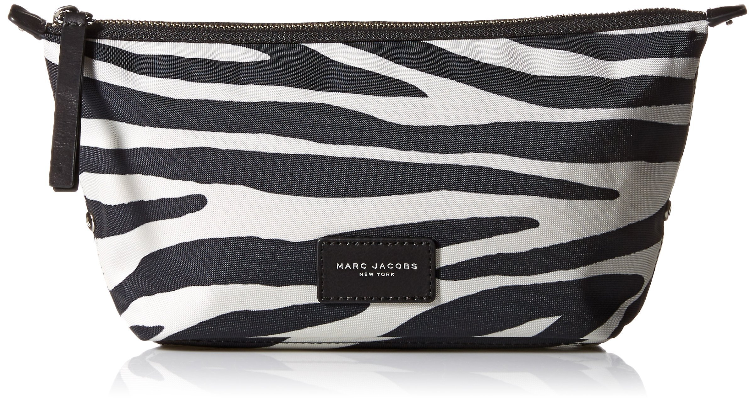Marc Jacobs Large Landscape Zebra Printed Biker Cosmetics Case, Off White Multi