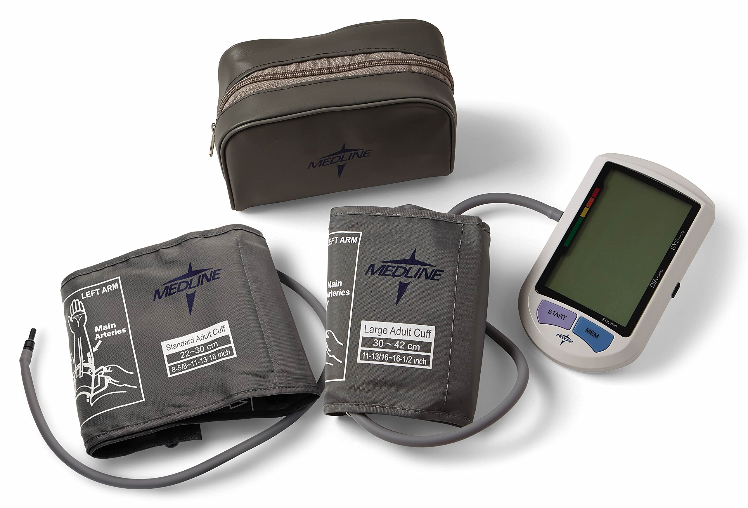 Medline Elite Automatic Digital Blood Pressure Monitor, Adult and Large Adult Cuff Included