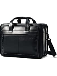 73c3e894d4c8 Samsonite Leather Expandable Business Case Black