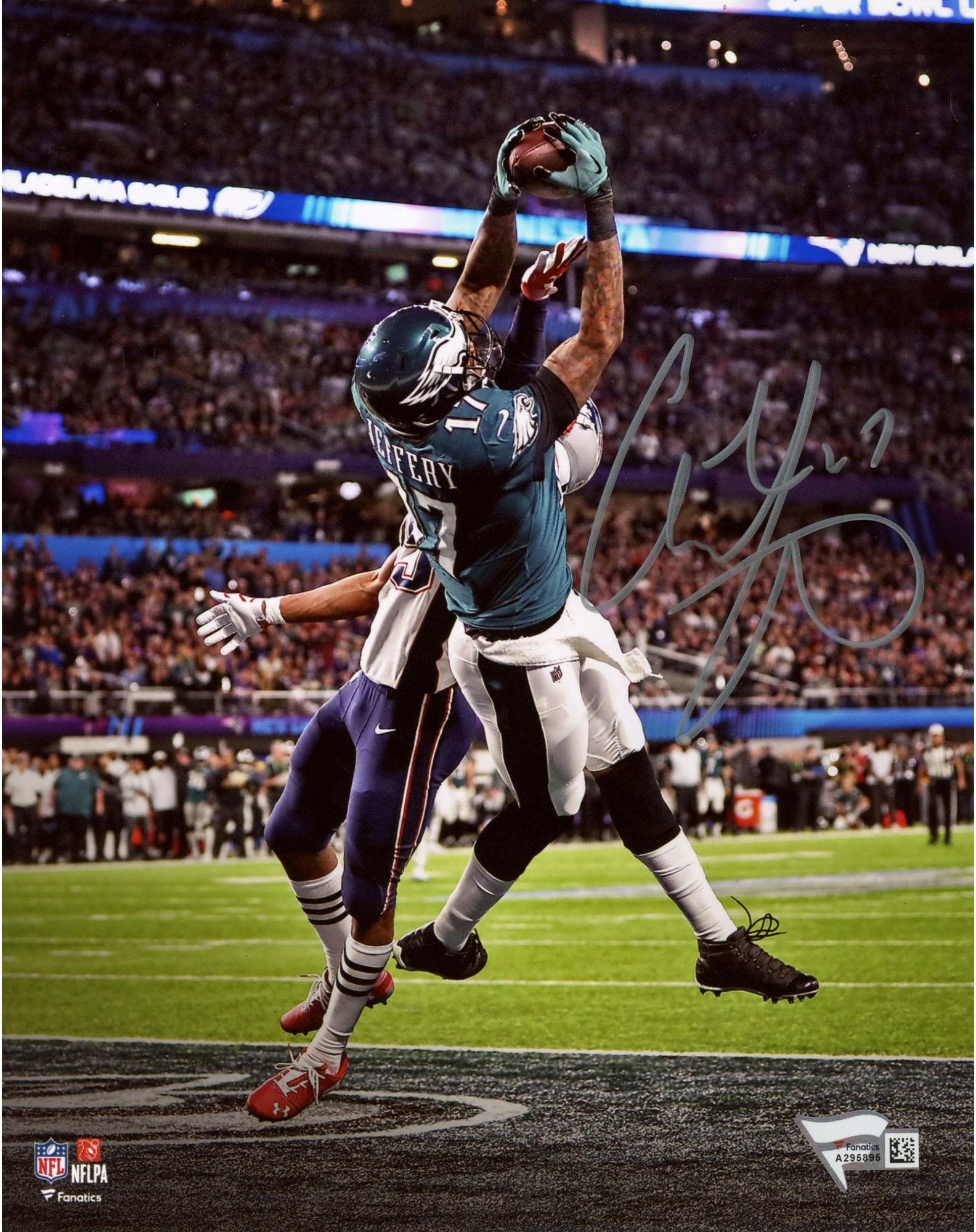 "Alshon Jeffery Philadelphia Eagles Autographed 8"" x 10"" Super Bowl LII Champions Photograph Fanatics Authentic Certified"