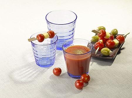 Duralex 1027BB06/6 Vasos Picardie Blue 25 cl, pack de 6, 0.25 litros, Cristal, Azul