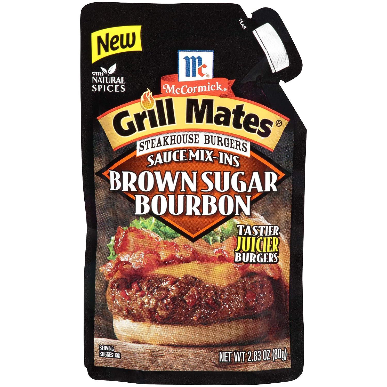 McCormick Grill Mates Brown Sugar Bourbon Steakhouse Burgers Sauce Mix-Ins, 2.83 oz