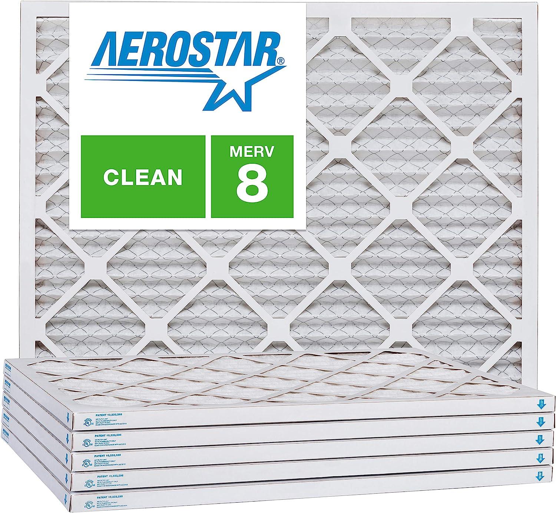 Box of 6 Aerostar 10x16x1 MERV 8 10x16x1 Pleated Air Filter Made in The USA
