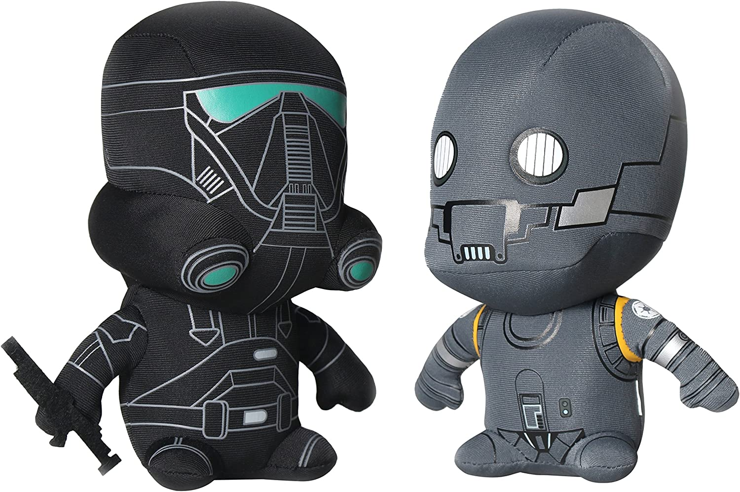 Amazon Com Comic Images Super Deformed Rogue One K 2 So Death Trooper Plush Toy In Polybag 2 Pack Toys Games