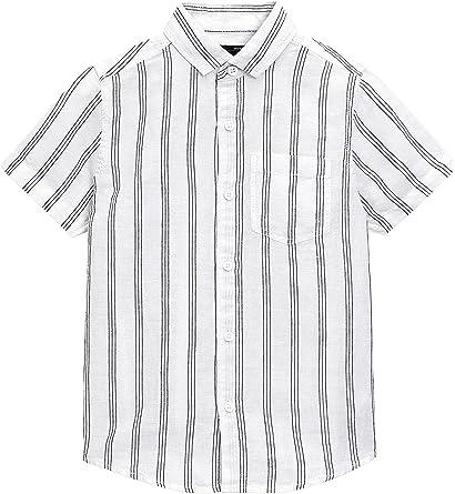 next Niños Camisa De Mangas Cortas En Mezcla De Lino (3-16 ...