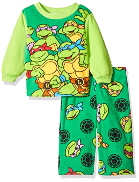9ddbb44df0 Image Unavailable. Image not available for. Color  Nickelodeon Boys  Ninja  Turtle 2-Piece Fleece Pajama Set ...