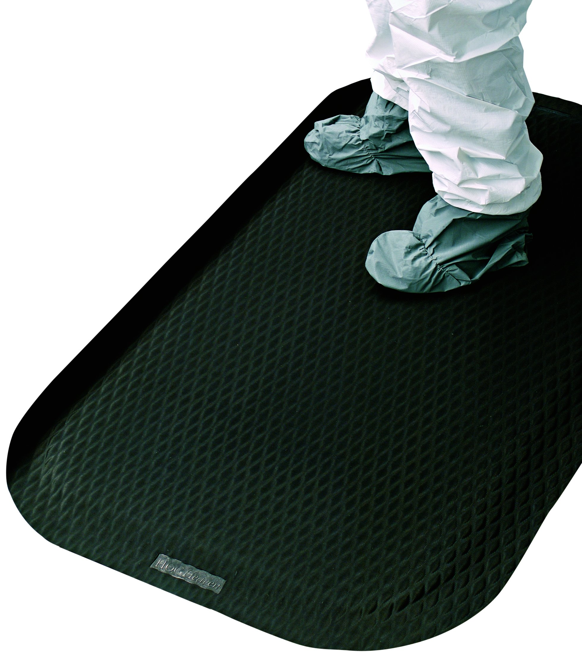 Hog Heaven Ergonomic Anti-Fatigue Mat 7/8'' 3' Length x 2' Width x Black by M+A Matting by M+A Matting (Image #2)
