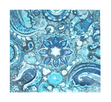 Amazon.com: Blue Paisley Canvas Wall Art (12\