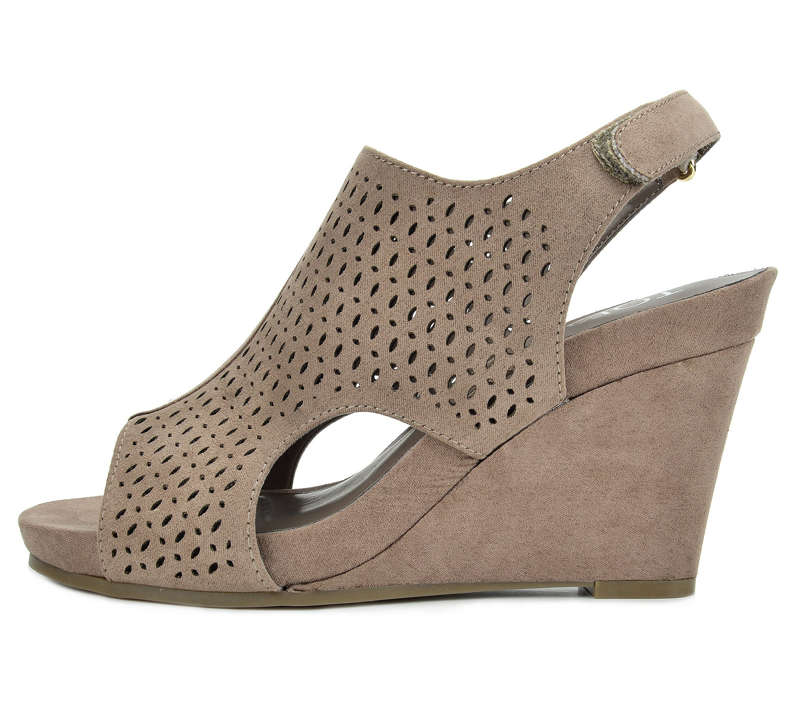 TOETOS Women's Solsoft-6 Taupe Mid Heel Platform Wedges Sandals - 9.5 M US by TOETOS (Image #3)
